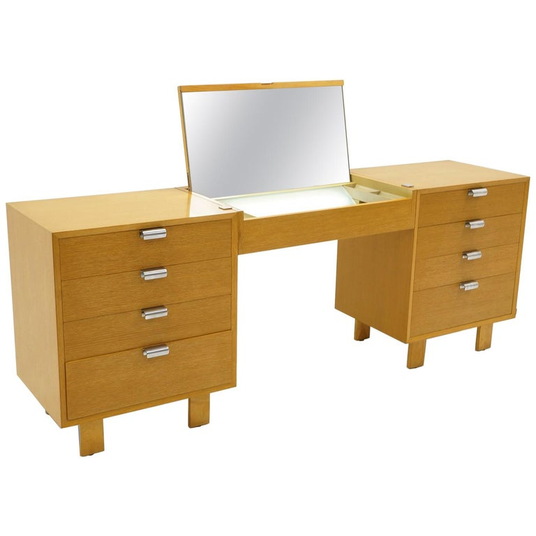 Vanity with Two Four-Drawer Chests by George Nelson for Herman Miller For Sale