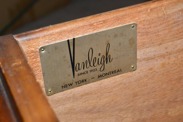 Vanleigh Walnut Night Stand, Bedside Tables American Mid-Century Modern, Pair For Sale 9
