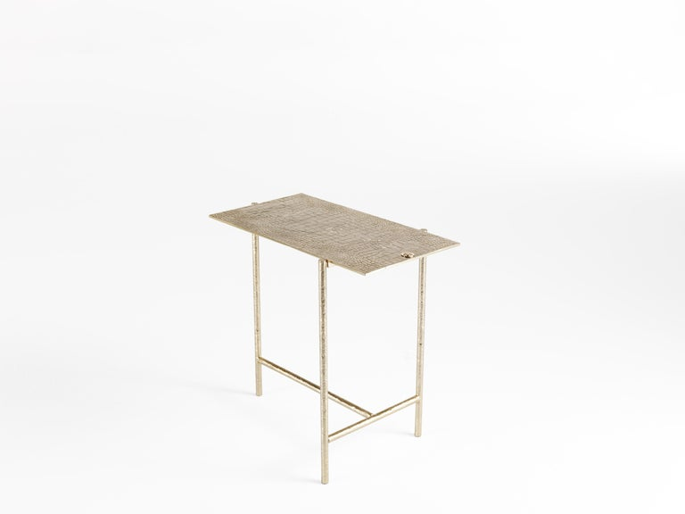 Modern Vanuatu Small Side Table in Metal by Roberto Cavalli Home Interiors For Sale