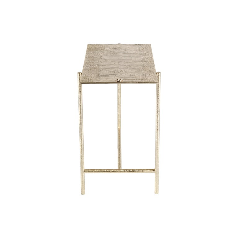 Vanuatu Small Side Table in Metal by Roberto Cavalli Home Interiors For Sale