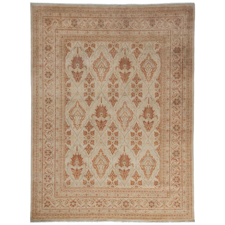 Oushak Rugs For Sale: Beige Oushak Area Rug For Sale At 1stdibs