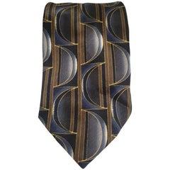Varazdin multicoloured blue silk tie