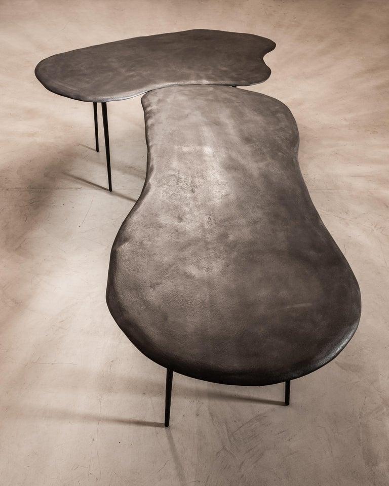 Stone Varenna Table Trio by Studio Emblématique For Sale