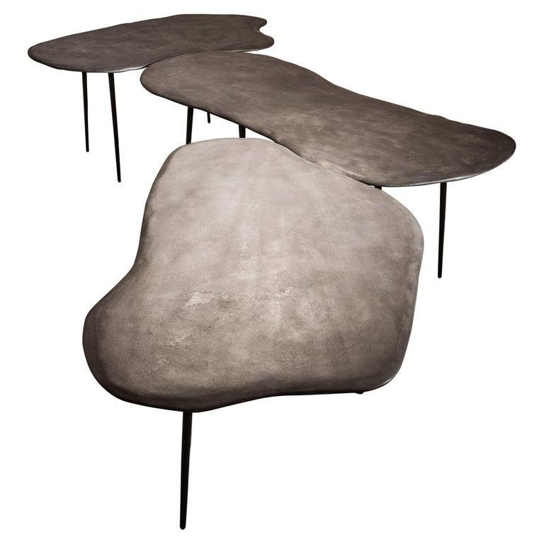 Varenna Table Trio by Studio Emblématique For Sale