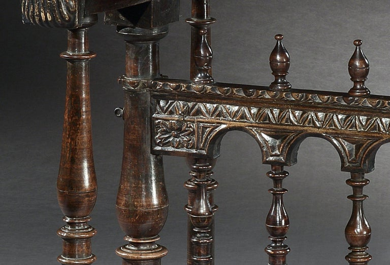 Vargueno or Bargueno, Late-16th-Early-17th Century, Spanish Renaissance, Walnut For Sale 5