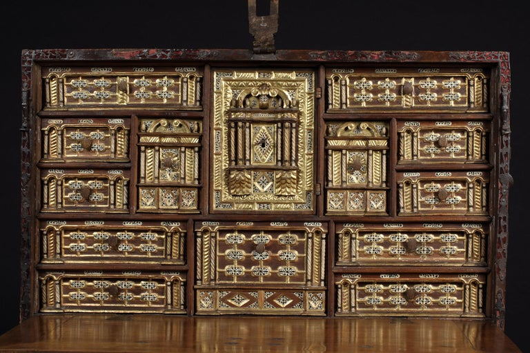 Spanish writing desks from this period are the most distinctive pieces of Spanish furniture conceived as visual displays of incredible virtuosity. They have been highly prized since the 16th century when they were objects of status for Spanish court