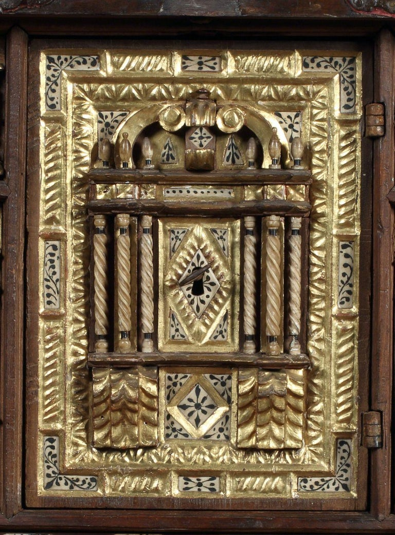 Fretwork Vargueno or Bargueno, Late-16th-Early-17th Century, Spanish Renaissance, Walnut For Sale