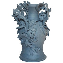 Vari Capitelli IX, a Unique Ceramic Sculptural Vase in Blue by Jo Taylor