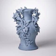 Vari Capitelli IX, a Unique Ceramic Sculptural Vase in Blue by Jo Taylor