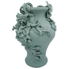 Vari Capitelli VI, a Unique Ceramic Vase in Soft Jade Green by Jo Taylor