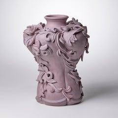 Vari Capitelli VIII, a Unique Ceramic Vase in Dusky Damson and Plum by Jo Taylor