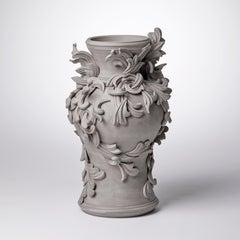 Vari Capitelli X, a Unique Ceramic Vase in Warm Grey by Jo Taylor