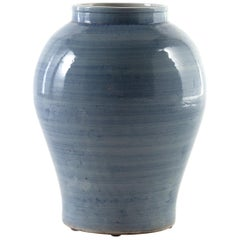 Variegated Blue Glaze Jar