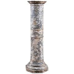 Variegated Marble Column Pedestal