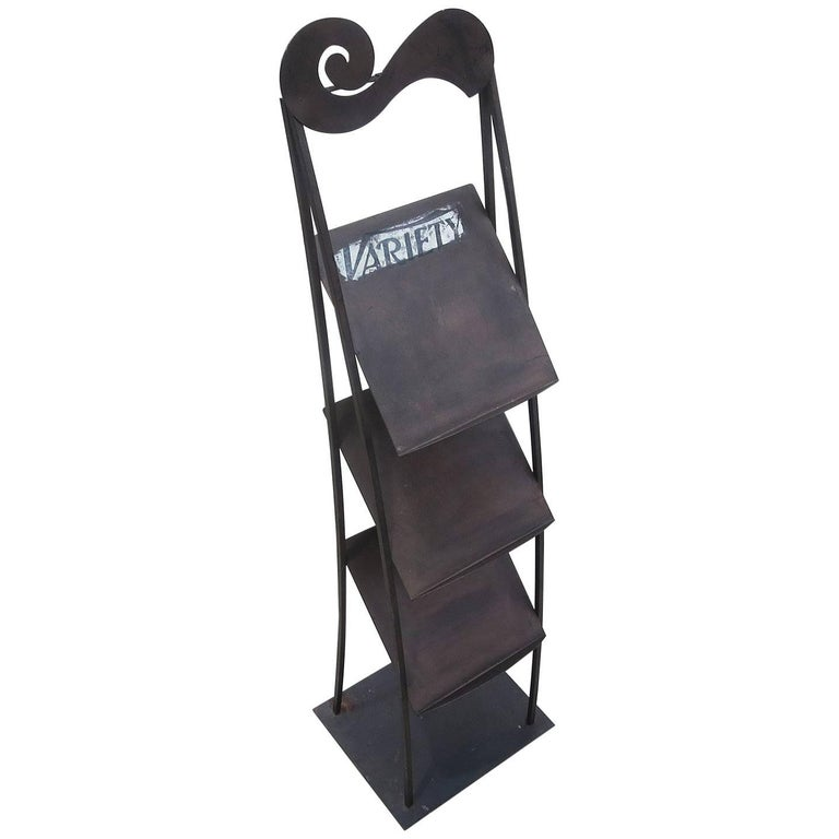 Variety Magazine Stand from Ambassador Hotel and Rudy Vallee Estate For Sale