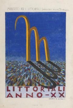 Poster Sketch for Littoriali - Original Vintage Poster - 1942