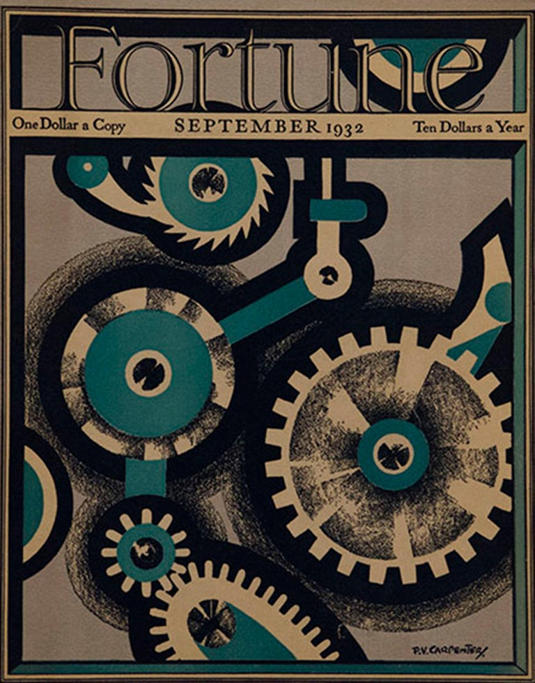 A Collection of 65 Original Fortune Magazine Covers 1931-1940 - Print by Various Artists
