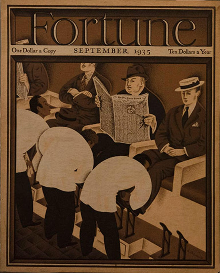 A Collection of 65 Original Fortune Magazine Covers 1931-1940 - Art Deco Print by Various Artists