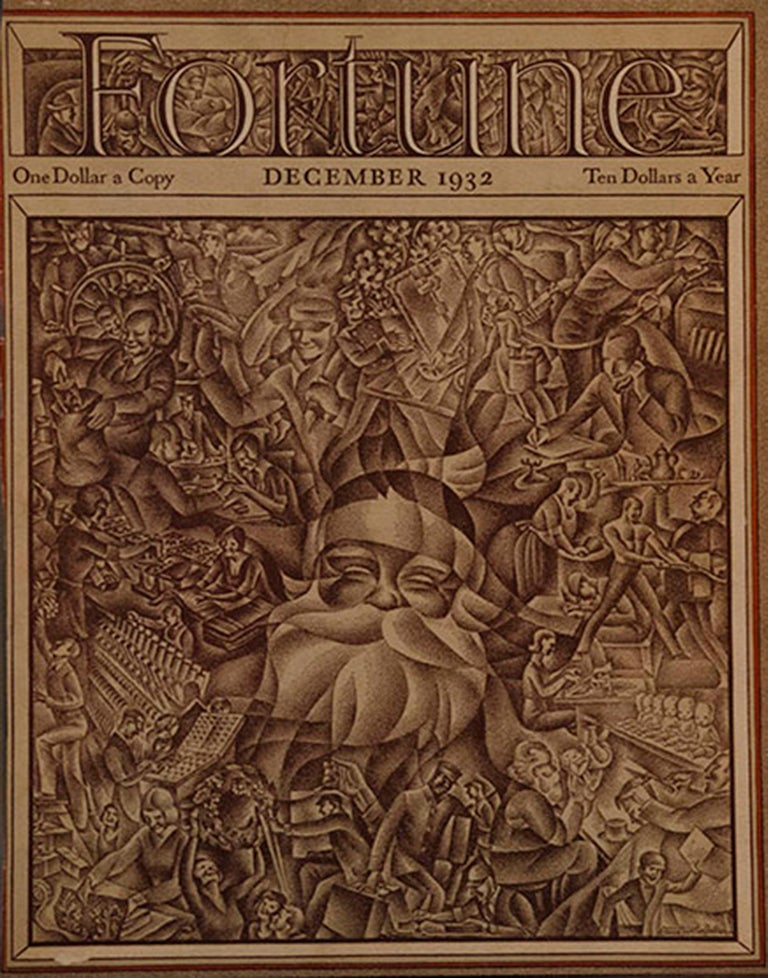 We are proud to present a lifetime collection of original Fortune Magazine covers from 1931-1940.  Assembles over many decades, this is one of the most comprehensive collections of American Art Deco imagery just arrived from a prominent Los Angeles
