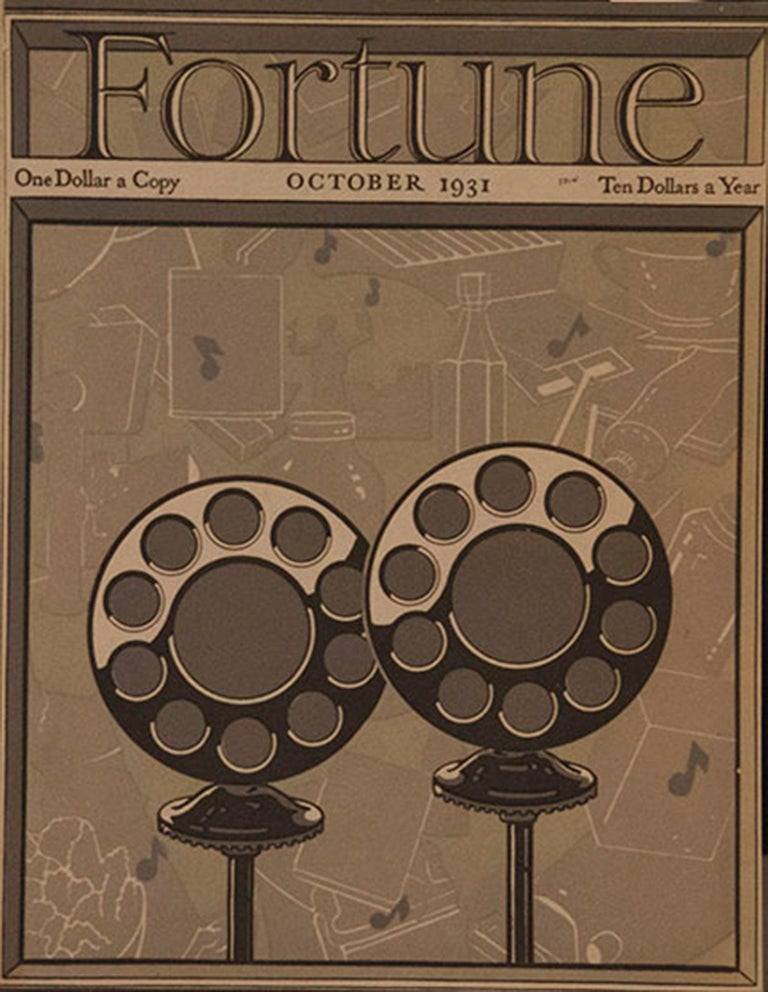 A Collection of 65 Original Fortune Magazine Covers 1931-1940 For Sale 2