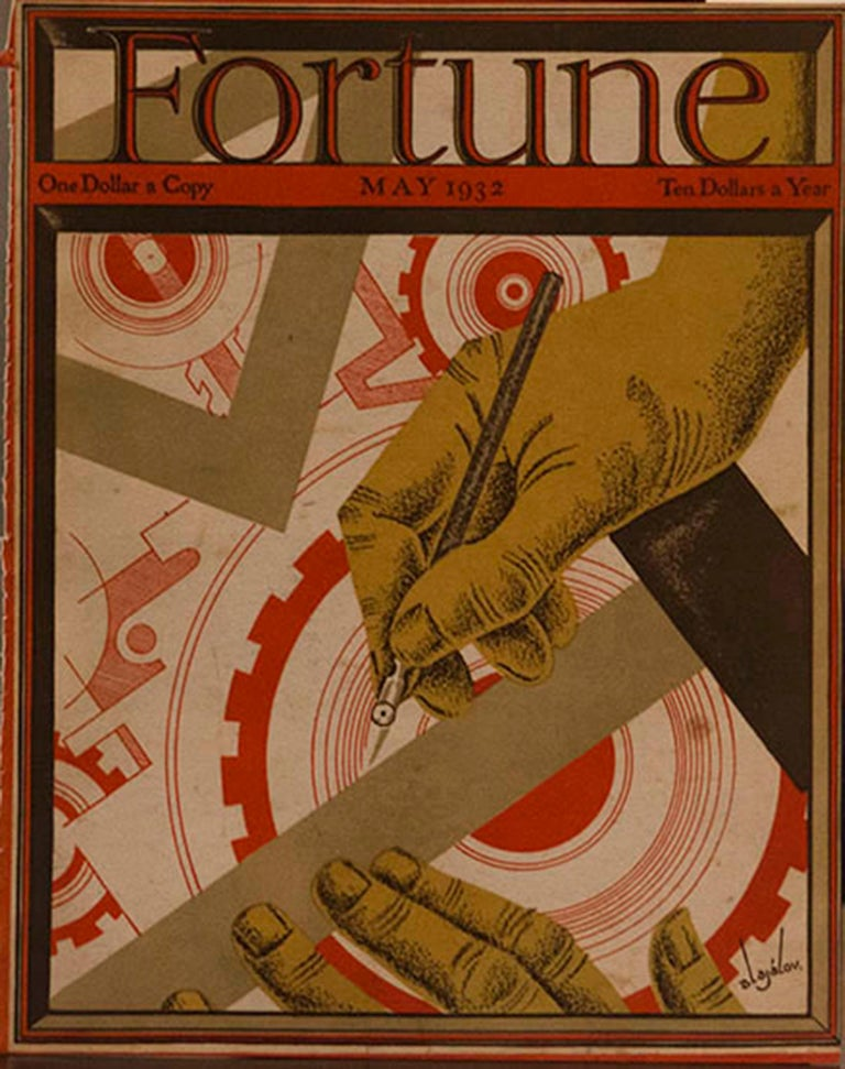 Various Artists Figurative Print - A Collection of 65 Original Fortune Magazine Covers 1931-1940