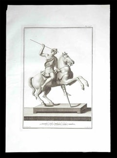Ancient Roman Statue - Original Etching - 18th Century