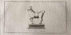 Animal Figures from Ancient Rome - Original Etching by Various Masters - 1750s