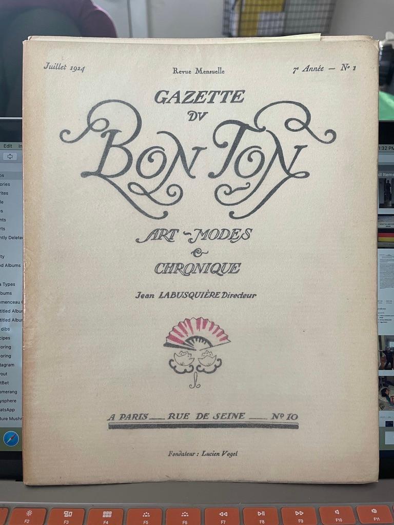 Gazette du Bon Ton- Complete - Gray Figurative Print by Various Artists