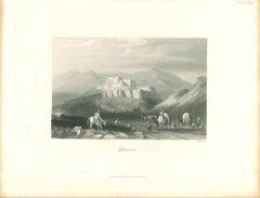 Ghuznee - Original Lithograph - Mid 19th Century