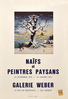 Naif Poster Exhibition - Galerie Weber Genève - 1978/79