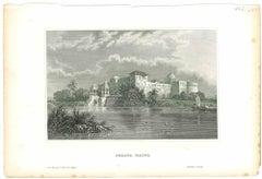 Perawa Malwa - Original Lithograph - Mid 19th Century