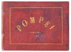 Pompei - Ancient Photo Book with Albumin Prints - Around 1874