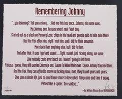 Remembering Johnny - William Gibson, Robert Longo - 1990s