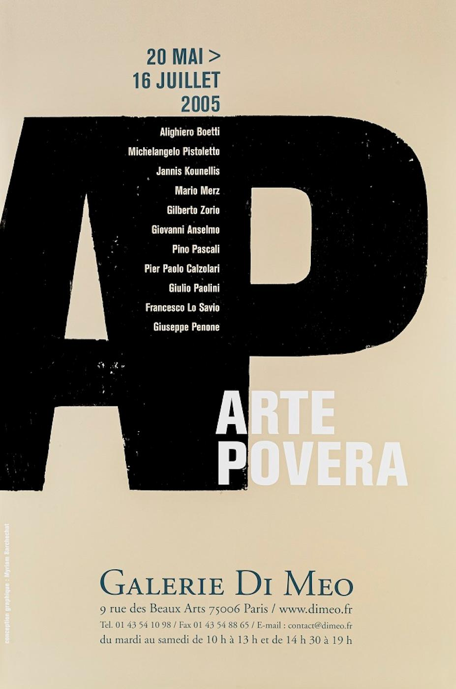 Vintage Exhibition Poster Arte Povera  - Galerie Di Meo Paris 2005