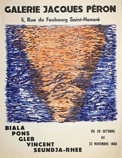 Vintage Poster Galerie Jacques Péron - Original Lithograph and Offset - 1960s