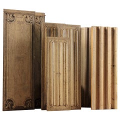 Various Carved Oak Panel and Linenfold Panels, 20th Century