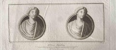 Ancient Roman Busts - Original Etching by Various Masters - End of 18th Century