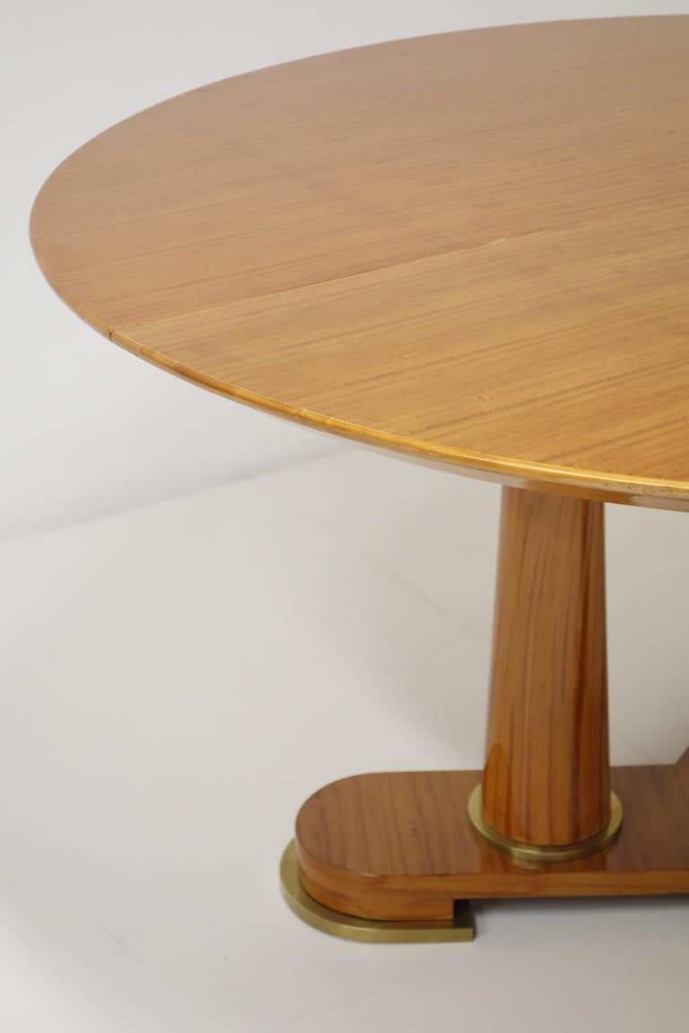 Bronze Varnished Lemon-Tree Circular Table by Jean Royère, circa 1950 For Sale