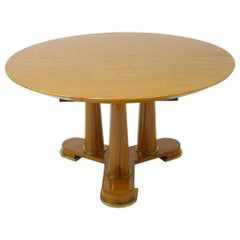 Varnished Lemon-Tree Circular Table by Jean Royère, circa 1950