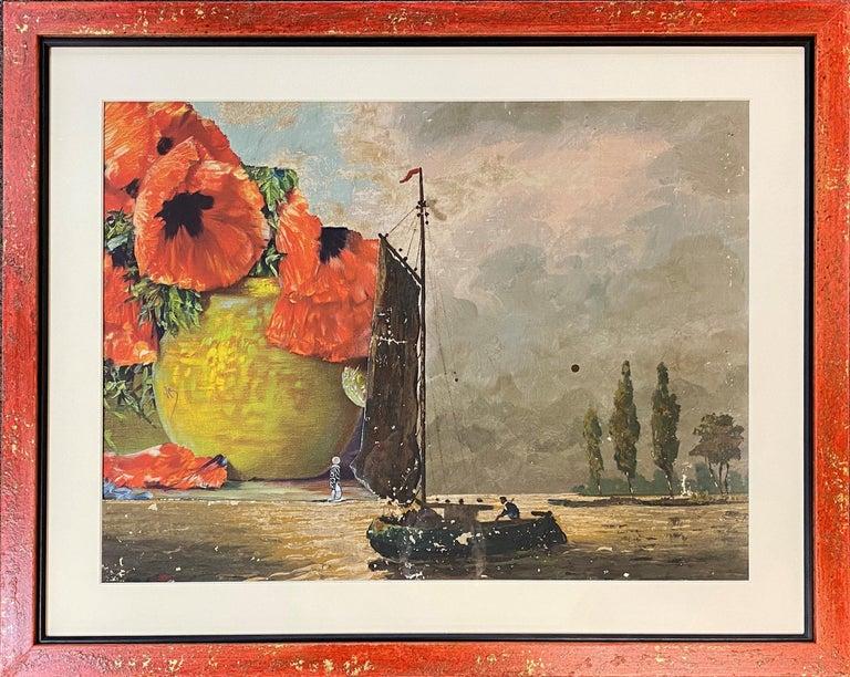 Poppies & A Boat - Art by Varujan Boghosian