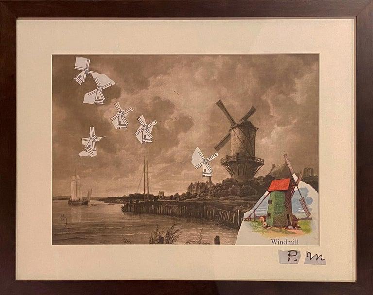 Windmills Collage - Art by Varujan Boghosian