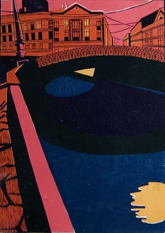 Colours of My City - 21st Century Contemporary Limited Edition Linocut Print