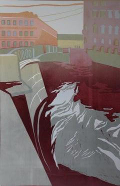 Fog - 21st Century Contemporary Limited Edition Linocut Print