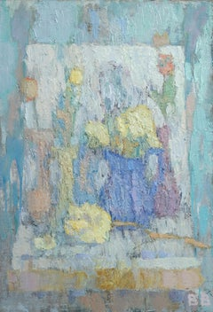 Still Life - 21st Century Contemporary Oil Impressionist Flower Painting