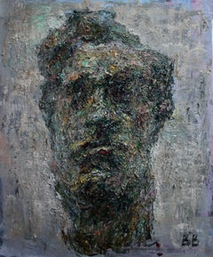 Study of a Bourdelle's Sculpture Beethoven - 21st Century Contemporary Painting