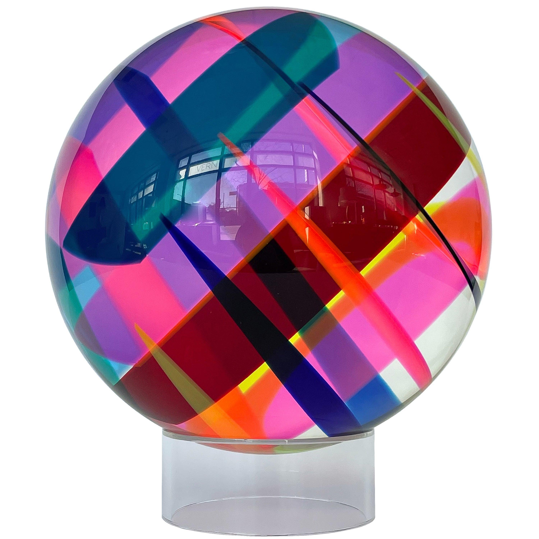 Vasa Mihich Acrylic Sphere Sculpture