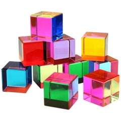Vasa Mihich Cubes in Multi-Color Acrylic