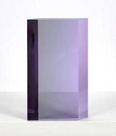 "Vasa Mihich ""Violet Gray Parallelogram"" Sculpture, 1983"
