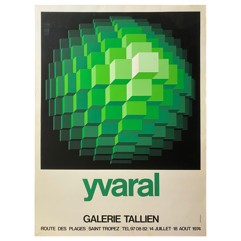Vasarely Galerie Tallien 1974 Serigraph Exhibition Poster