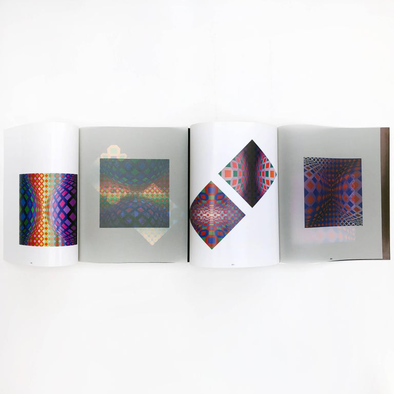 First edition, published by Editions du Griffin, 1974  This edition stands out from other artists' monographs, putting the book format at the forefront of the experience. Vasarely designed transparent, colored and fold old pages as a unique ground